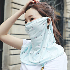 Women's Neck Protection Cloth Face Mask Reuseable For Riding / Decorating
